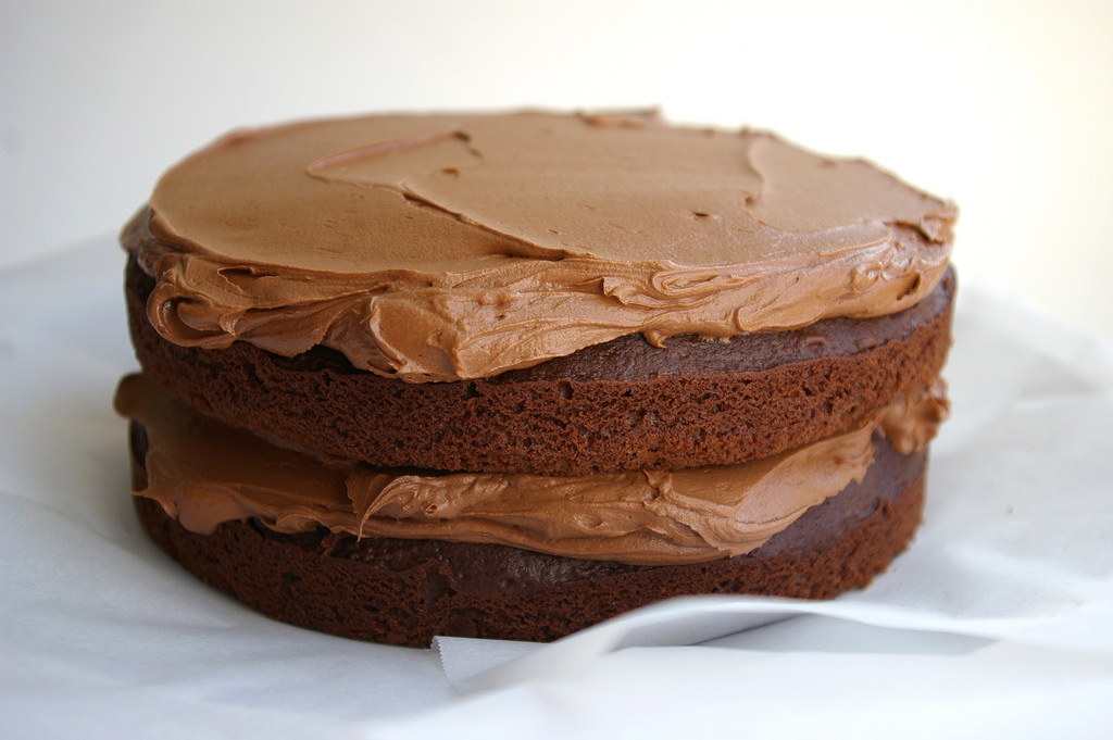 Image of a chocolate layer cake